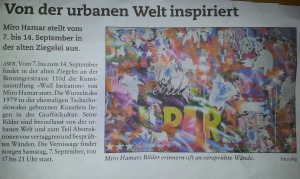 Zeitung Wall Imitation